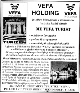 Vefa's Ad as Tourism Agency
